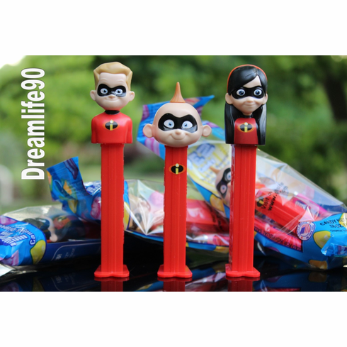 New for 2018! Incredibles Pez, Violet, Dash and Jack Jack, Combo