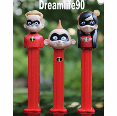 New for 2018! Incredibles Pez, Violet, Dash and Jack Jack, Loose