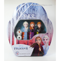 New Frozen 2 Pez Gift Tin, Anna, Elsa (no lipstick), Mini Olaf and Kristoff  (Mint in Gift Tin, Loose or Combo)