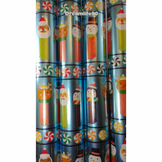 Pez-Themed Wrapping Paper, Gift Wrap, Mint in Tube