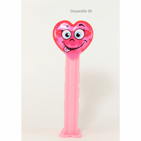 NEW! 2020 Valentine Heart Pez, Pink (loose or mint on card)