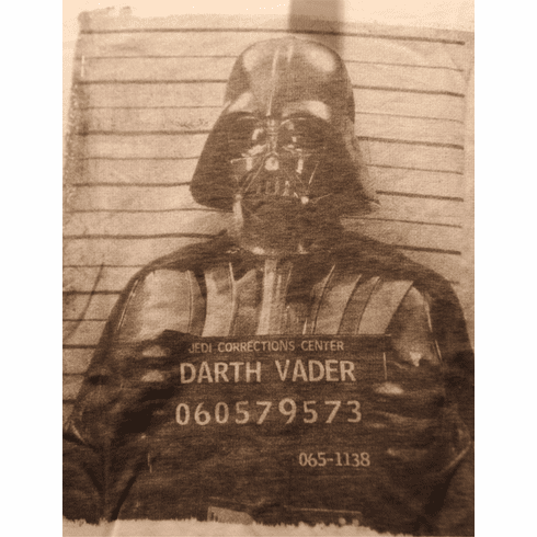 Star Wars Darth Vader Graphic T, Mug Shot, New with Tags, Size Adult Medium, New with Tags ONLY 1 IN STOCK