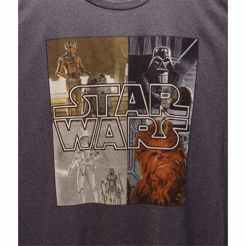 Star Wars Graphic T, Grey, Large, Short Sleeves, New with Tags, ONLY 1 IN STOCK