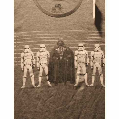 Star Wars Graphic T, Medium, Darth Vader Line-Up, New with Tags, ONLY 1 IN STOCK