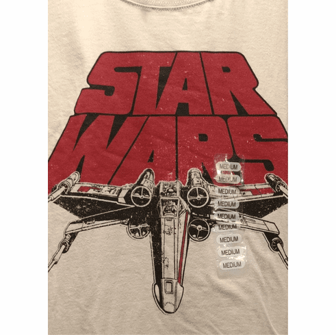 Star Wars Graphic T Shirt, Medium, Tan, Millennium Falcon, New with Tags ONLY 1 IN STOCK