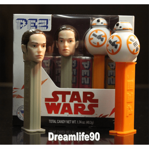 Star Wars Pez, Episode 8 Twin Pack BB8 & Rey, Combo