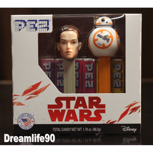 Star Wars Pez, Episode 8 Twin Pack BB8 & Rey, Mint in Box