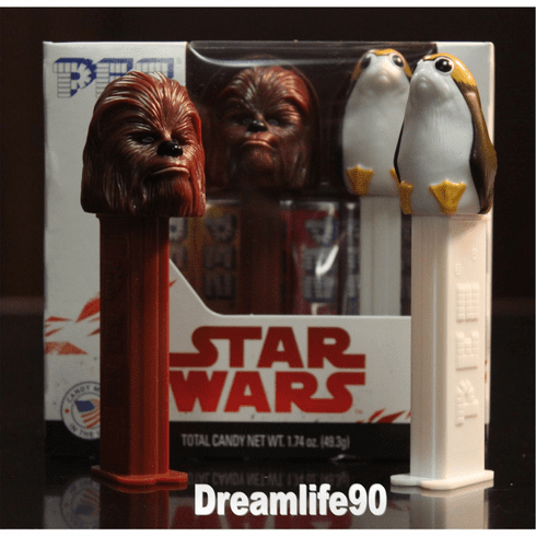 Star Wars Pez, Episode 8 Twin Pack Chewbacca & Porg, Combo