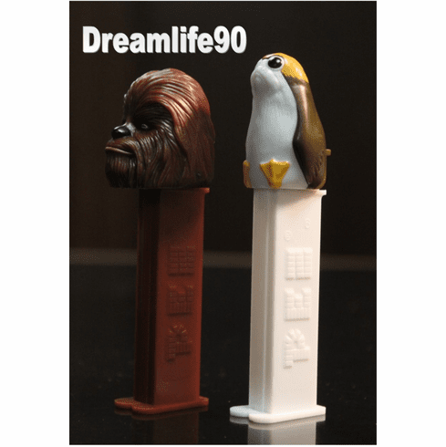 Star Wars Pez, Episode 8 Twin Pack Chewbacca & Porg, Loose