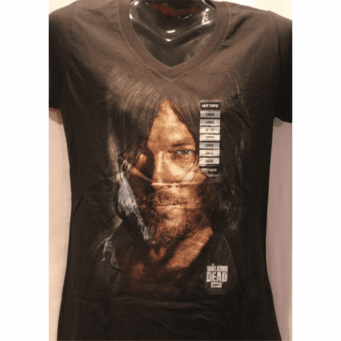 The Walking Dead Graphic T, Women's Cut Large, V Neck,  New with Tags ONLY 1 IN STOCK