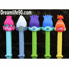 Trolls Pez, Set of 5, Loose ONLY 1 SET LEFT!