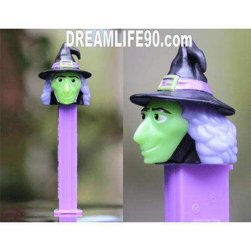 Witch Pez on Purple Stem and Black Hat, Loose