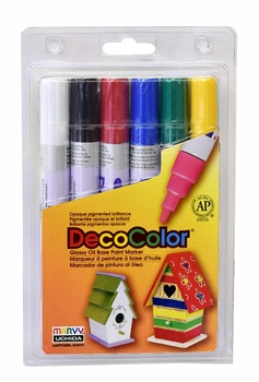 Decocolor 300 Broad Tip- Basic Set of 6