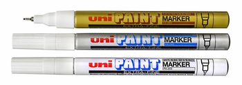 Uni Paint Markers, Extra Fine Point, PX-203