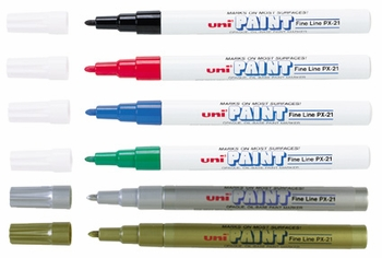 Uni Paint Markers, Fine Point,   PX-21
