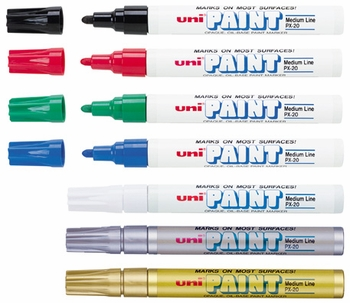 Uni Paint Markers, Medium Point, PX-20