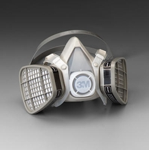 3M 5000 Series Respirator Half-Face Mask w/ Organic Vapor Cartridge