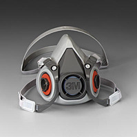 3M 6200 Half-Face Re-usable Respirator Gas Mask