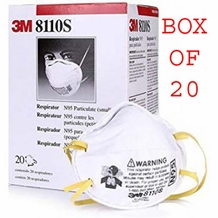 3M 8110S N95 Particle Mask (20 pack) Size Small