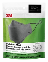 3M Daily Face Mask Reusable Washable Adjustable Ear Loops, Lightweight Cotton Fabric- Pack of 10 Masks