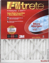 3M Filtrete Micro Allergen Reduction Furnace Filter 16x 25''x 1''