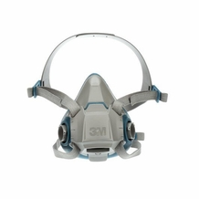 3M Rugged Comfort Half Face Reusable Respirator 6503/49489, Large