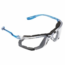 3M Virtua CCS Protective Eyewear  w/Removable Foam Gasket, Clear Anti-Fog Lenses, Corded Ear Plug Control
