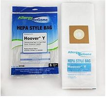 Allergy Be Gone For Hoover WindTunnel Upright Type Y Vacuum Bags Microfiltration with Closure - 6 Pack