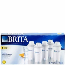BRITA 35516 Replacement Filters for Drinking Water Pitchers (5 pack of filters)