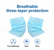 50 pack of Disposable Face Mask - 3-Ply Breathable & Comfortable Filter Safety Mask