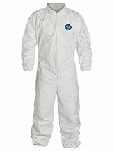 DuPont Tyvek Disposable Protective Coverall with Elastic Wrist/Ankle Cuffs