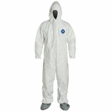 DuPont Tyvek Disposable Protective Coverall with Elastic Wrist/Ankles Cuffs, Hood & Boots