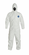 DuPont Tyvek Disposable Protective Coverall with Elastic Wrist/Ankle Cuffs, and Hood