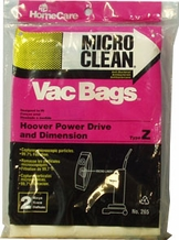 Micro Clean Multi-Layer Bags for Hoover, Type Z (4 pack)