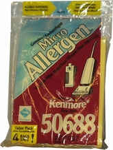 MicroAllergen Vacuum Cleaner Bags for Kenmore 50688 (4 pack)