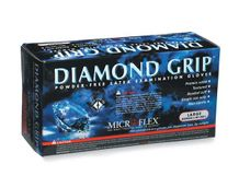 Microflex Diamond Grip Disposable Gloves in Latex Multi-Purpose, Powder Free Glove in Natural Rubber- 100 gloves