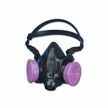 North 770030 Silicone ReUsable Half Facepiece Respirator with P100 Filter Set
