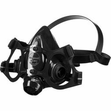 North 770030 Silicone ReUsable Half Mask w/dual cartridge connectors