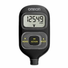 Omron HJ203BL Pocket Pedometer with Activity Tracker - Black