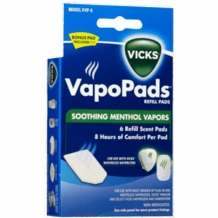 Vicks VVP-6 Soothing Vapors Replacement Pads for Vicks V1700 (6 pads per pack)