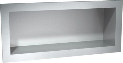 Recessed Stainless Steel Shelf