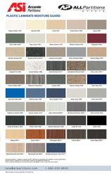 Accurate Plastic Laminate Colors