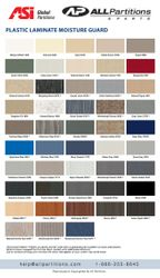 Global Plastic Laminate Colors