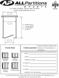 Blank Form-1 Stall free standing