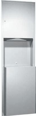 C-Fold/Multi-Fold Paper Towel Dispenser with Waste Receptacle