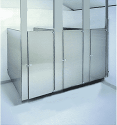 Ceiling Hung - Stainless Steel Toilet Stalls