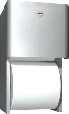Contemporary Double Roll Toilet Paper Dispenser