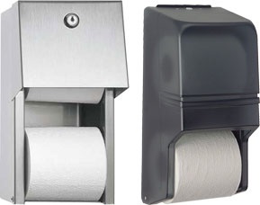 Covered Double Roll Toilet Paper Holder
