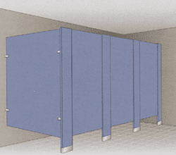 Floor Mounted / Anchored Metal Stalls