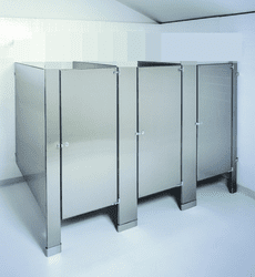 Floor Mounted/ Anchored - Stainless Steel Stalls